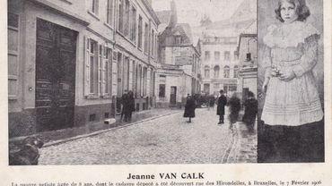 Carte postale éditée suite au crime odieux de Jeanne Van Calck (1906)