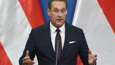 Heinz-Christian Strache, vice-chancelier d'Autriche et chef du Parti de la liberté d'Autriche (FPÖ, à Budapest, le 6 mai 2019