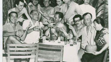 Gabriel García Márquez with Luis Buñuel, Luis Alcoriza, Arturo Ripstein and unidentified people