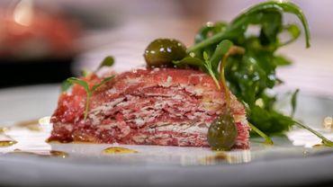 Mille-feuille de bœuf, parmesan
