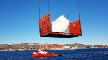 Les blocs de glace sont issus des eaux du fjord Nuup Kangerlua au Groenland