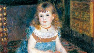 """Pierre-Auguste Renoir (1841-1919), """"Mademoiselle Georgette Charpentier assise"""", 1876, Tokyo, Bridgestone Museum of Art"""