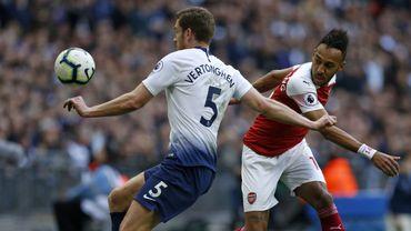 Jan Vertonghen et son maillot numéro 5 de Tottenham