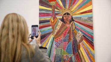 La Frieze, prestigieuse foire d'art à Londres, a présenté à Londres les œuvres de 300 galeries.