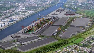 Liège: coup d'envoi du chantier du Trilogiport.