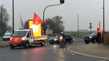 Fin de l'action escargot sur la RN25, un rond point et plusieurs zonings bloqués dans le Brabant wallon