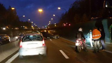 Accident sur le ring de Bruxelles, à l'entrée du tunnel Léonard