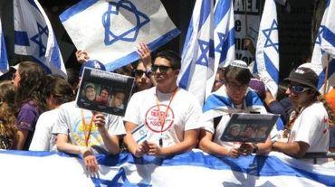 Manifestation pour la libération des jeunes Israéliens enlevés
