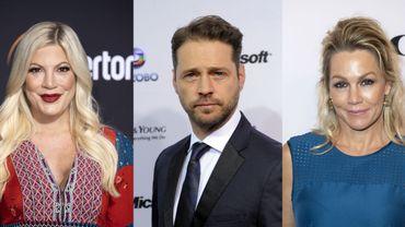 """Tori Spelling (à gauche), Jason Priestley (au centre)et Jennie Garth participeraient au reboot de """"Beverly Hills"""""""