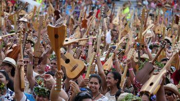 Les Polynésiens veulent reconquérir le record du monde de ukulélé