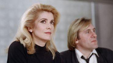 Catherine Deneuve et Gérard Depardieu en 1988 à Paris