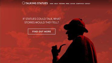 Approchez votre téléphone de Sherlock pour recevoir un appel du célèbre détective (capture d'écran www.talkingstatues.co.uk)