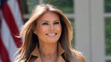Melania Trump le 7 mai 2018 à la Maison Blanche