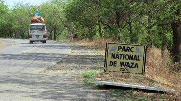 L'entrée du parc animalier de Waza, le 28 mai 2014, dans le nord du Cameroun, une région traumatisée depuis l'enlèvement de dix ouvriers chinois par le groupe Boko Haram le 16 mai
