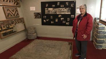 Soeur Agnès dans le musée retraçant l'histoire de la communauté de Saint-André.
