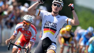 Cyclisme: Greipel gagne la 1e étape luxembourgeoise, Danny van Poppel reste leader