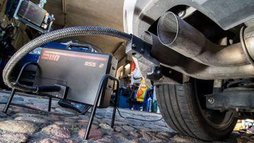 Test antipollution d'un véhicule diesel