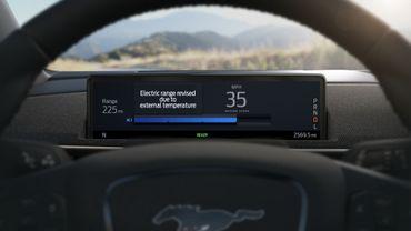 Ford présente l'intelligent Range, disponible sur la future Mustang Mach-E.