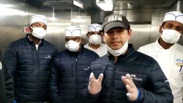 Coronavirus: les employés indiens d'un paquebot supplient leur premier ministre des les rapatrier