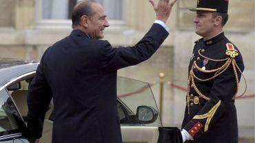 Jacques Chirac quitte l'Elysée pour laisser la place à Nicolas Sarkozy, le 16 mai 2007.