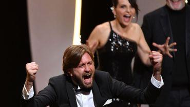 Le réalisateur suédois Ruben Ostlund, à l'annonce de sa Palme d'Or