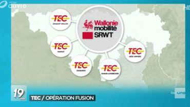 Fusion des 5 TEC en une seule société de transports: méfiance des syndicats