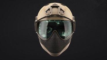 """Le casque """"Warq"""" est utilisé généralement par les joueurs d'Airsoft. Mais il est tellement novateur qu'il intéresse même la Défense et la police. Y compris en-dehors de nos frontières."""