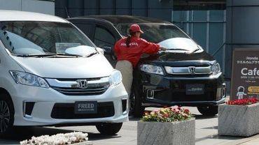 Devant le siège de Honda Motors à Tokyo, le 25 avril 2014