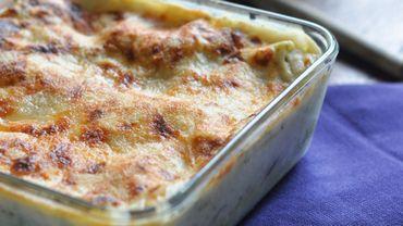Lasagnes aux champignons, poulet et brocoli