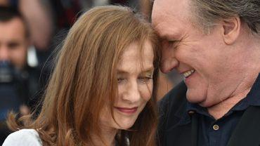 Isabelle Huppert et Gérard Depardieu à Cannes en mai 2015