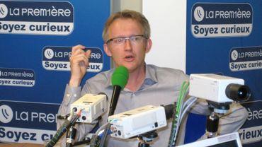 David Van Reybrouck, écrivain flamand et membre du G1000 dans le studio de Matin première