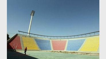 Vue du stade de Bagdad dessiné par Le Corbusier, le 12 avril 2012