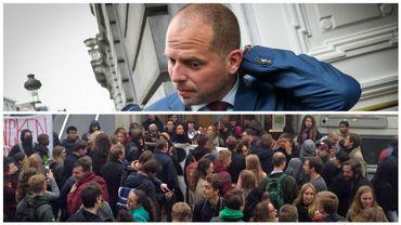 VUB: la lecture de Theo Francken annulée suite au blocage d'étudiants