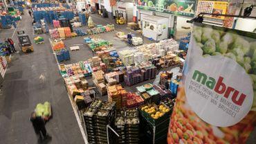 Vue du marché matinal Mabru