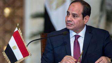 Le président égyptien Abdel Fattah al-Sissi en conférence de presse, le 11 décembre 2017 au Caire