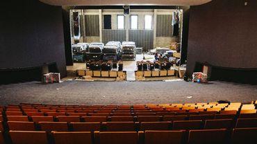 La salle du théâtre en fin de rénovation
