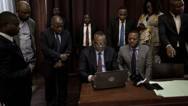 Corneille Nangaa, au centre, est le président de la Commission électorale nationale indépendante (Céni).