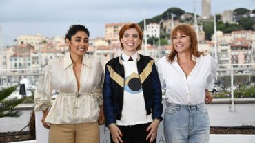 """Golshifteh Farahani, Eva Husson et Emmanuelle Bercot, une partie de l'équipe des """"Filles du soleil"""""""