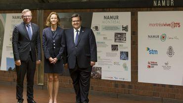 La nouvelle décoration de la station fait la promotion touristique de Namur en Belgique