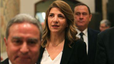 Marie-Claude Najm, ex-ministre de la Justice du Liban, le 22 janvier 2020