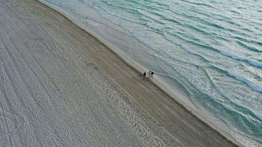 Vue aérienne de Miami Beach, aux Etats-Unis, le 16 mars 2020
