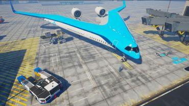 Le nouvel avion Flying-V en forme de V de KLM