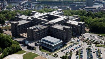 Vue aérienne du CHR de la Citadelle à Liège