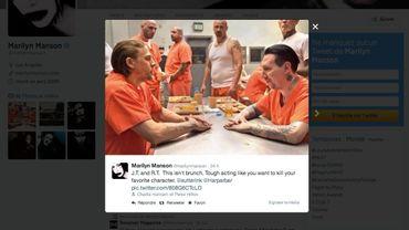 """Marylin Manson joue un chef de gang raciste dans la septième et ultime saison de """"Sons of Anarchy"""""""
