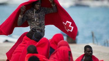 Des migrants à leur arrivée à Malaga dans le sud de l'Espagne le 9 juin 2018.