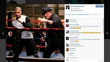 Sylvester Stallone a dévoilé la photo sur son compter Instagram