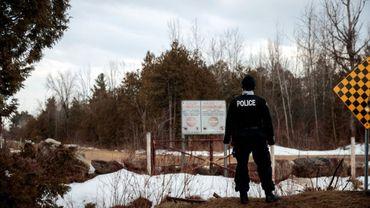 Un policier canadien à Hemmingford, Quebec, le 23 février 2017