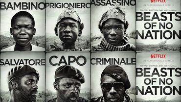 """L'affiche en noir et blanc de """"Beasts of Nation"""" laisse entrevoir un personnage complexe joué par Idris Elba"""