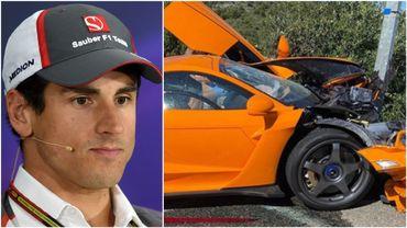 Adrian Sutil, ex-pilote de F1, détruit sa McLaren Senna à plus de 900.000euros