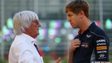 Ecclestone et Vettel